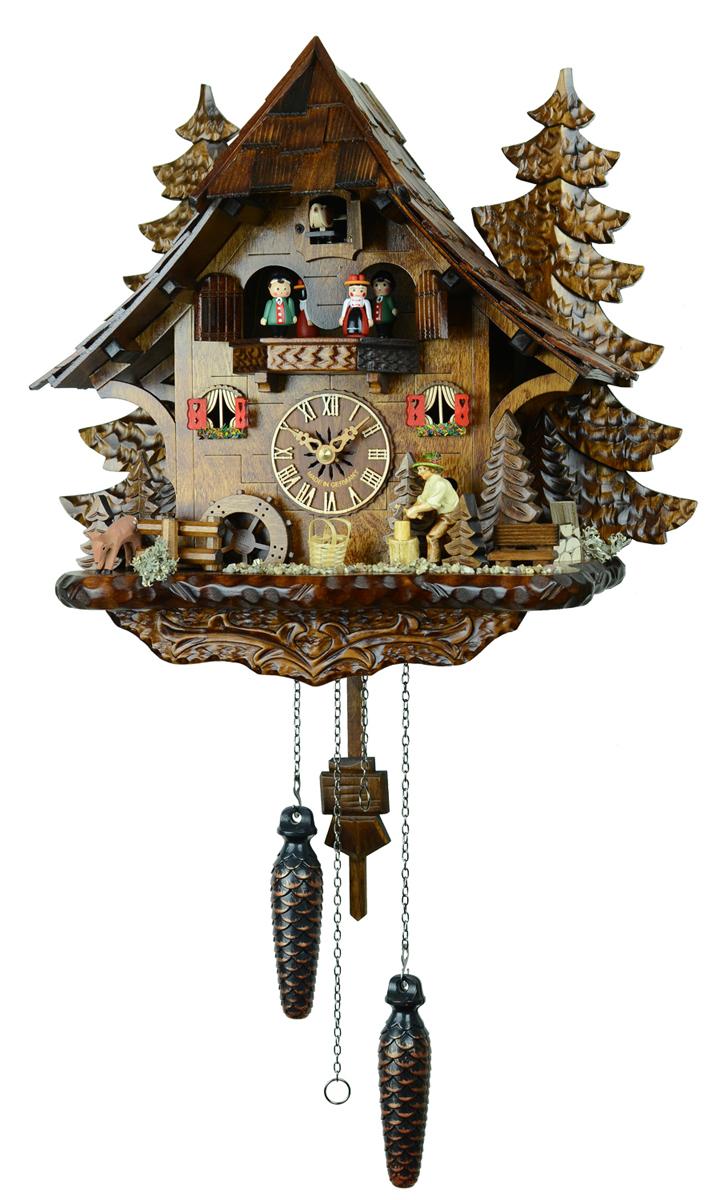 鳩時計 壁掛け時計 ハト時計 はと時計 ポッポ時計 473QMT木こりのお仕事【ENGSTLER鳩時計ムーブメント】10P09Jul16