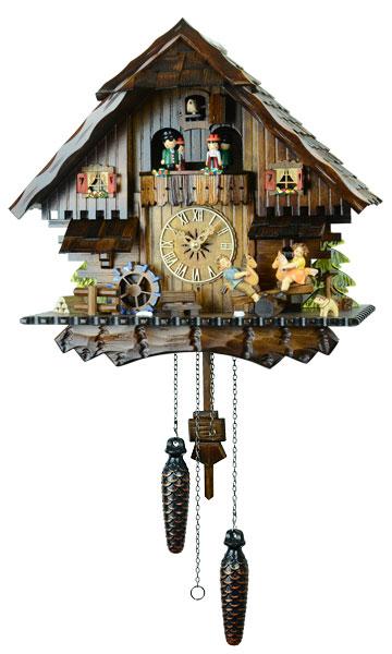 鳩時計 壁掛け時計 ハト時計 はと時計 ポッポ時計 クォーツ鳩時計4746QMT10P09Jul16
