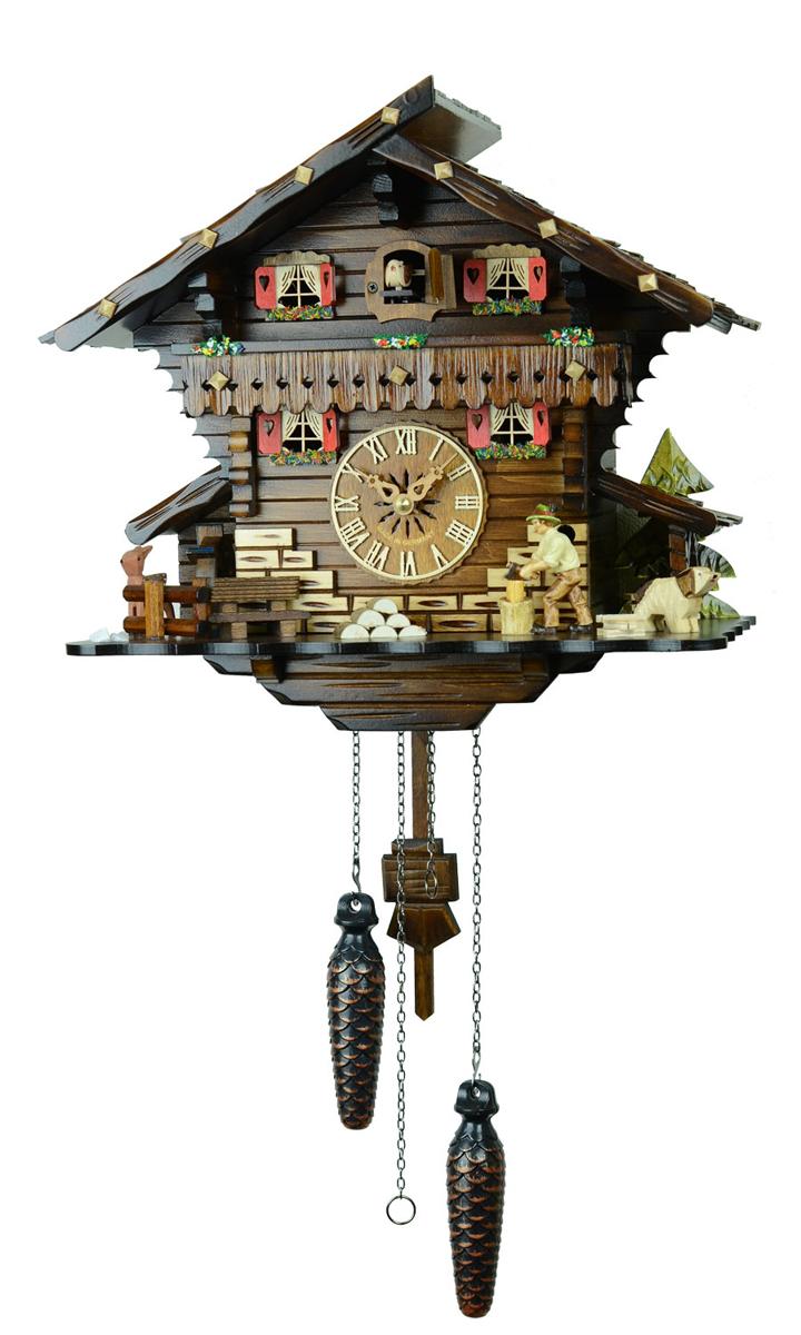 鳩時計 壁掛け時計 ハト時計 はと時計 ポッポ時計 482QM【ENGSTLER鳩時計ムーブメント】鳩時計