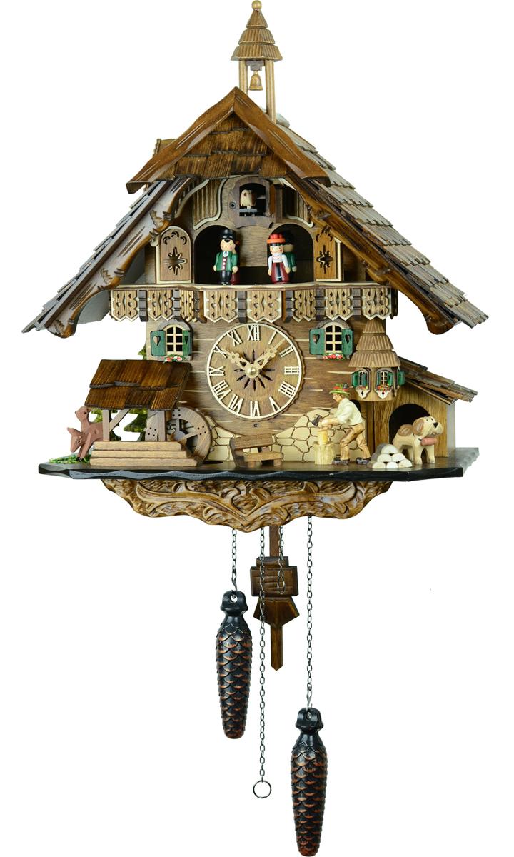 鳩時計 壁掛け時計 ハト時計 はと時計 ポッポ時計クォーツ式 山小屋モデル 483QMT【ENGSTLER鳩時計ムーブメント】鳩時計 10P09Jul16