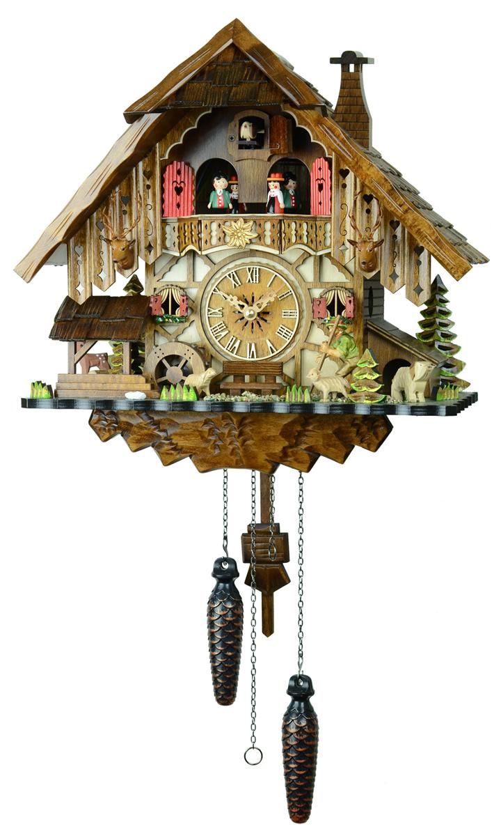 鳩時計 壁掛け時計 ハト時計 はと時計 ポッポ時計クォーツ式 山小屋モデル 48712QMT羊飼いのからくり時計【ENGSTLER鳩時計ムーブメント】 10P09Jul16