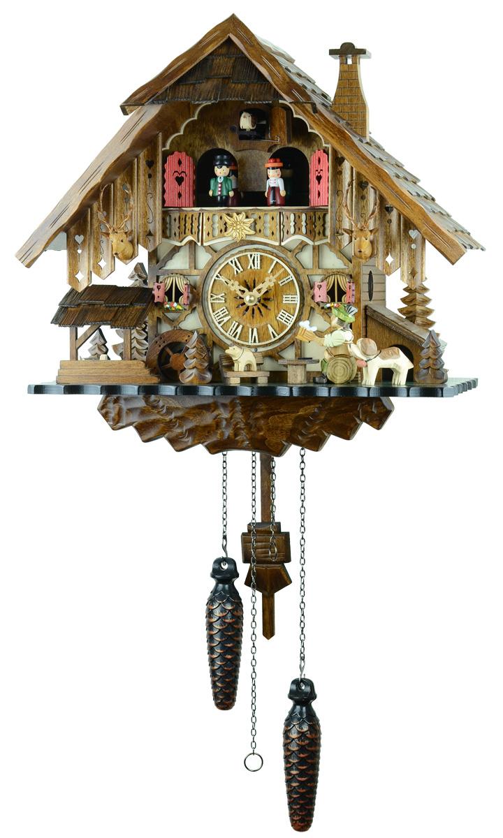 鳩時計 壁掛け時計 ハト時計 はと時計 ポッポ時計クォーツ式 木こりの休憩 487QMT【No.1】鳩時計 10P09Jul16