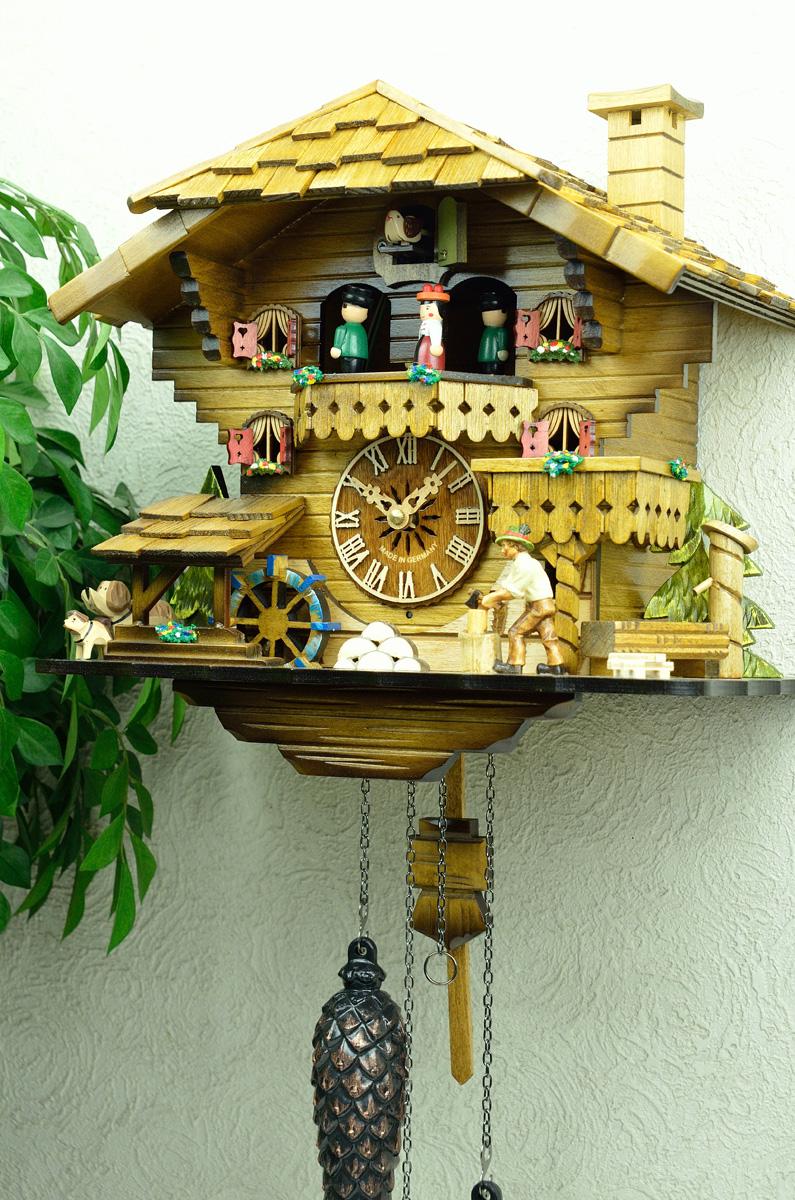 鳩時計 壁掛け時計 ハト時計 はと時計 ポッポ時計クォーツ式 木こりのお仕事 490C-QMT 10P09Jul16