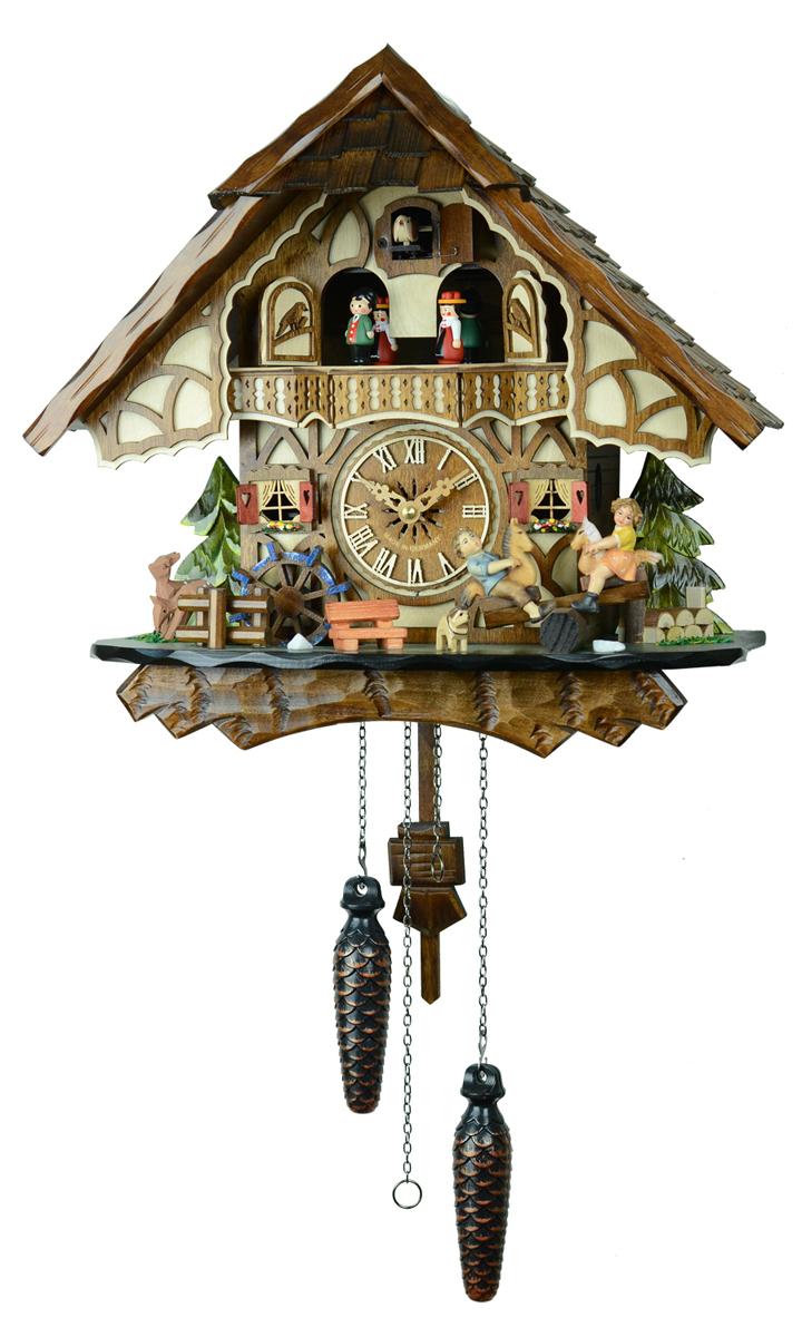 鳩時計 壁掛け時計 ハト時計 はと時計 ポッポ時計 クォーツ鳩時計 子供たちのシーソー 4916QMT 10P09Jul16