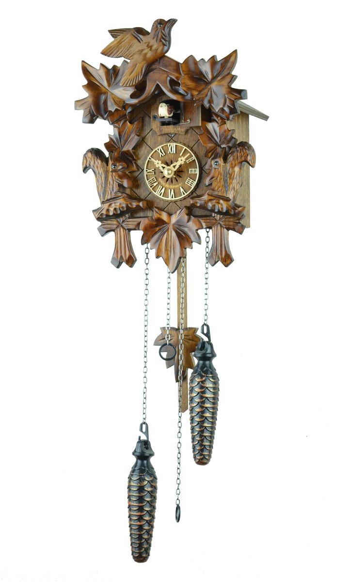 鳩時計 壁掛け時計 ハト時計 はと時計 ポッポ時計クォーツ式 彫刻モデル 622 QM【ENGSTLER鳩時計ムーブメント】