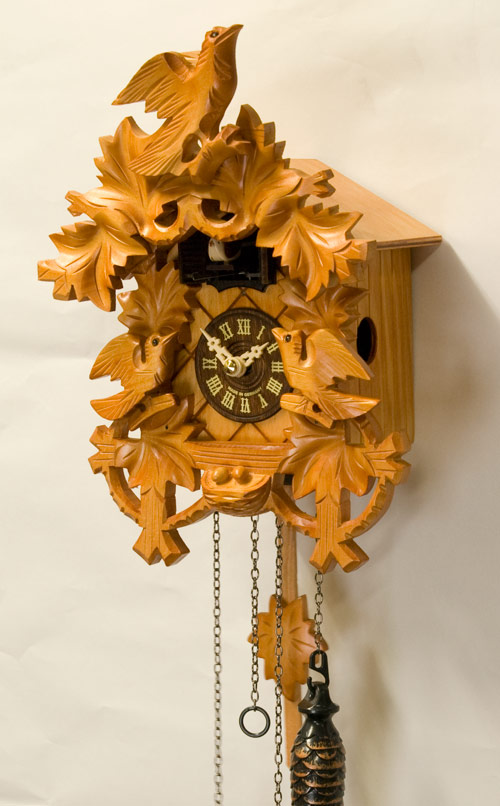 鳩時計 壁掛け時計 ハト時計 はと時計 ポッポ時計クォーツ式 彫刻モデル 625-11QM