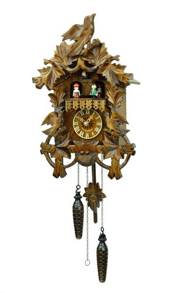 鳩時計 壁掛け時計 ハト時計 はと時計 ポッポ時計クォーツ式 彫刻モデル 635QMT