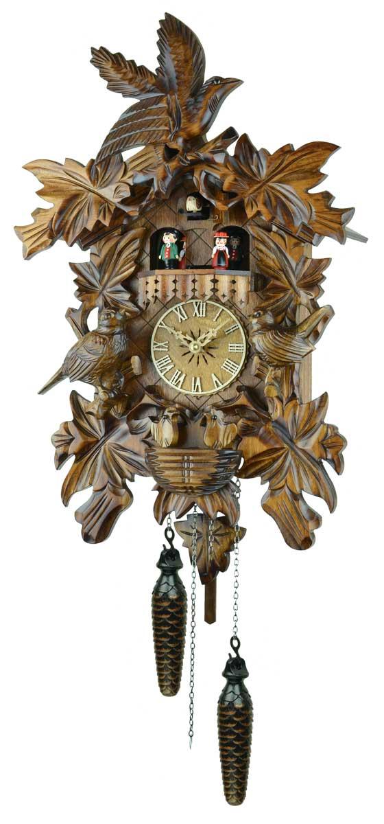 鳩時計 壁掛け時計 ハト時計 はと時計 ポッポ時計クォーツ式 彫刻モデル 640QMT【ENGSTLER鳩時計ムーブメント】 10P09Jul16