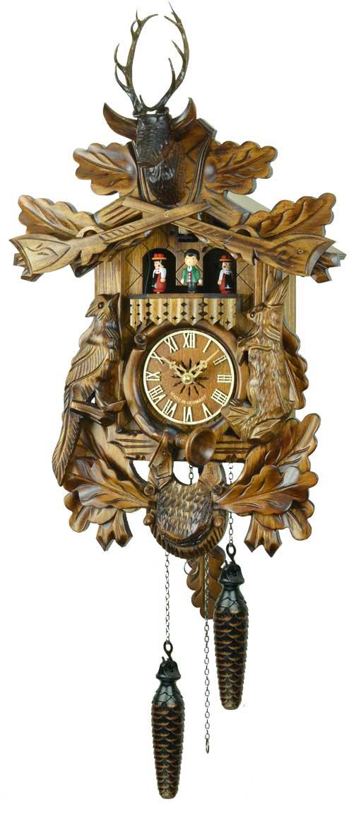 鳩時計 壁掛け時計 ハト時計 はと時計 ポッポ時計 クォーツ式鳩時計 739QMT西洋菩提樹