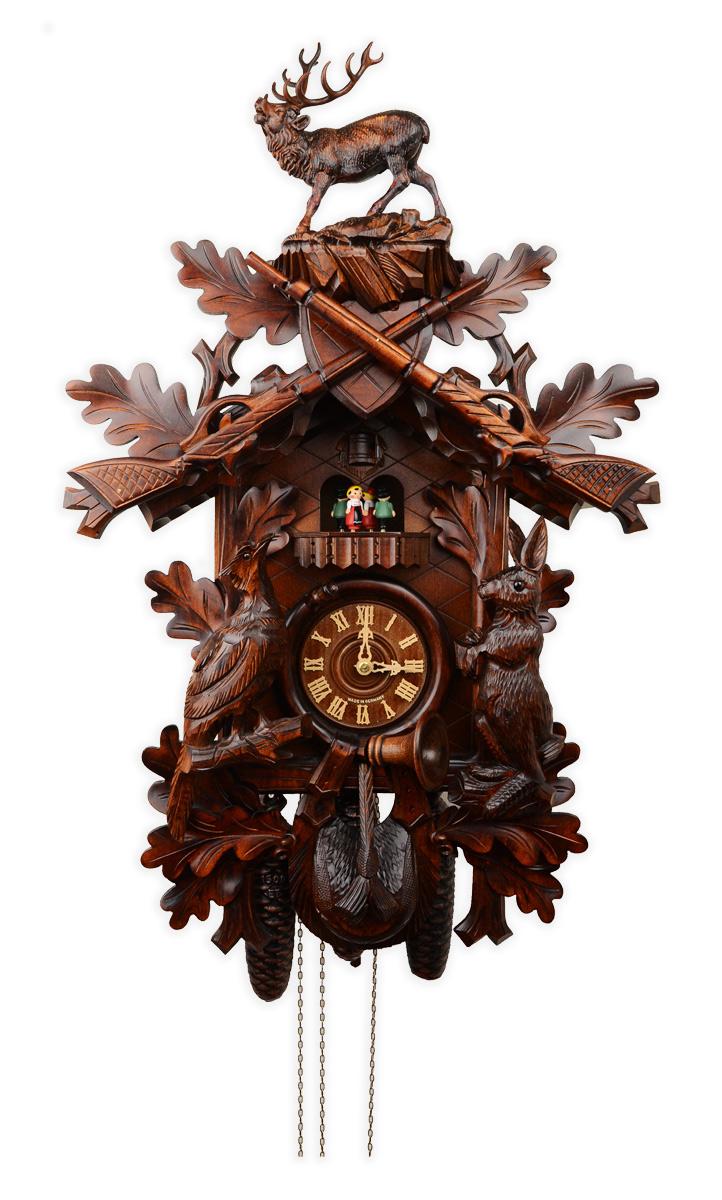 鳩時計 壁掛け時計 ハト時計 はと時計 ポッポ時計 森の時計 八日巻き 鳩時計795-8MT ドイツREGULA鳩時計ムーブメント」【8日巻き鳩時計・スイスオルゴール内蔵】夜間鳴り止め