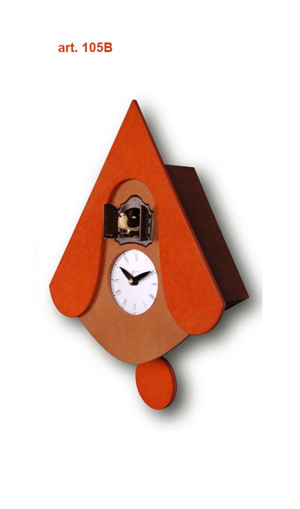 鳩時計 壁掛け時計 ハト時計 はと時計 ポッポ時計 クォーツ式 Pirondini(ピロンディーニ)クク時計Pirondini Cucu New W 105B ピロンディーニ社 クォーツ鳩時計 ★2年保証