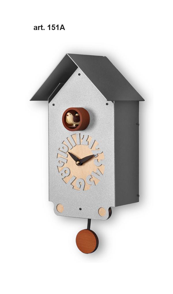 鳩時計 壁掛け時計 ハト時計 はと時計 ポッポ時計 クォーツ式 Pirondini(ピロンディーニ)クク時計 Pirondini Cucu Casetta 151A クォーツ鳩時計 ★2年保証