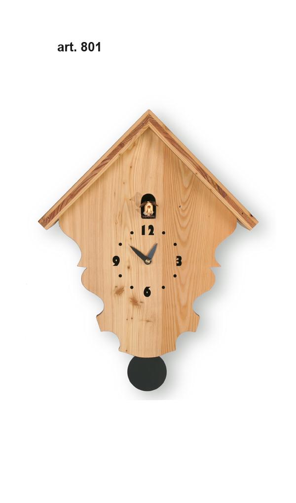 鳩時計 壁掛け時計 ハト時計 はと時計 ポッポ時計 クォーツ式 Pirondini(ピロンディーニ)クク時計Pirondini Cucu Natural 801 クォーツ鳩時計 ★2年保証