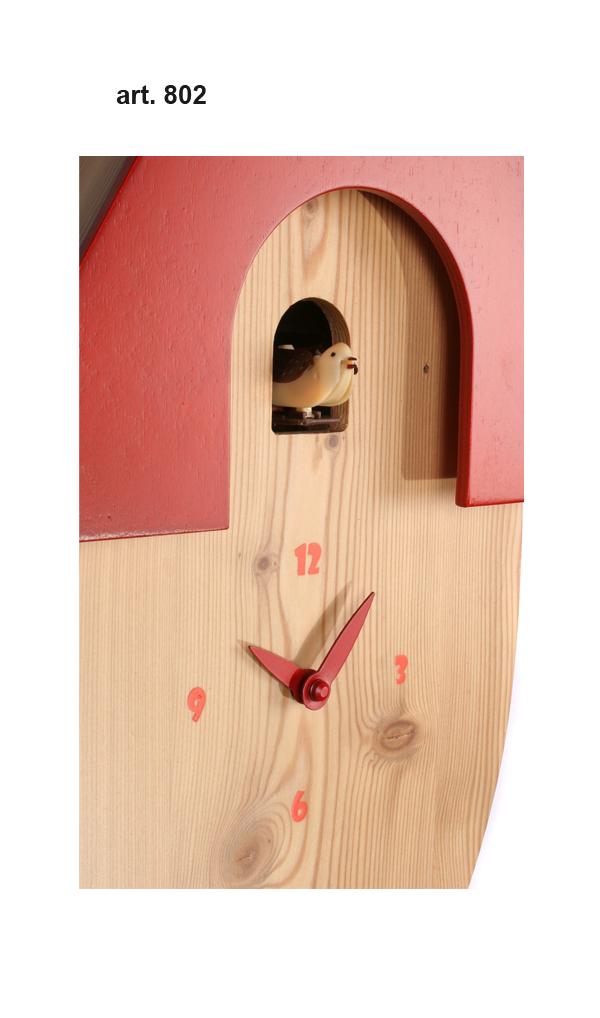 鳩時計 壁掛け時計 ハト時計 はと時計 ポッポ時計 クォーツ式 Pirondini(ピロンディーニ)クク時計 Pirondini Cucu Natural 802 クォーツ鳩時計 ★2年保証