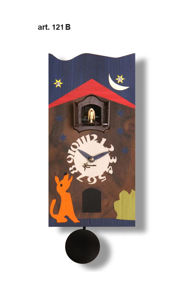 鳩時計 壁掛け時計 ハト時計 はと時計 ポッポ時計 クォーツ式 Pirondini(ピロンディーニ)クク時計 Cucu Sorrento 121B クォーツ鳩時計 ソレント ★2年保証