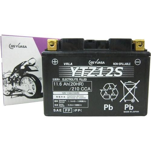 バイク用品 モーターサイクル オートバイ バイクパーツ バイクバッテリーYTZ12SGSユアサ YTZ12S 取寄品