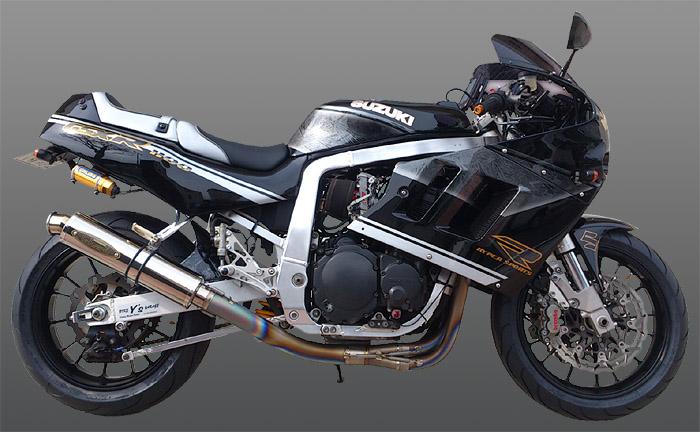 格安SALEスタート! バイク用品 マフラー 4ストフルエキゾーストマフラーテックサーフ テマゲチタンフルEX ポリッシュチタン GSXR1100 89-92techserfu T20-S004-0402 取寄品 セール, 命一番堂 2d356b15