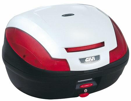 取寄品 GIVI 送料無料でお届けします リアボックス カスタム ジビ バイク用 ボックス ストップランプなし パールホワイト塗装 モノロックケース E470B906D 使い勝手の良い 汎用モノロックベース付き 送料無料 68056