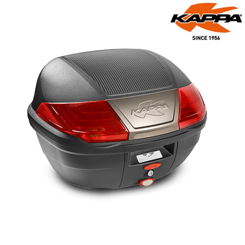 大きい シンプル 40L ヘルメット収納可 ツーリング 現金特価 バイクリアボックスKAPPA カッパ K400Nトップケース 大収納 イタリア リアボックス 鍵付き 超特価SALE開催 安全 ブラック