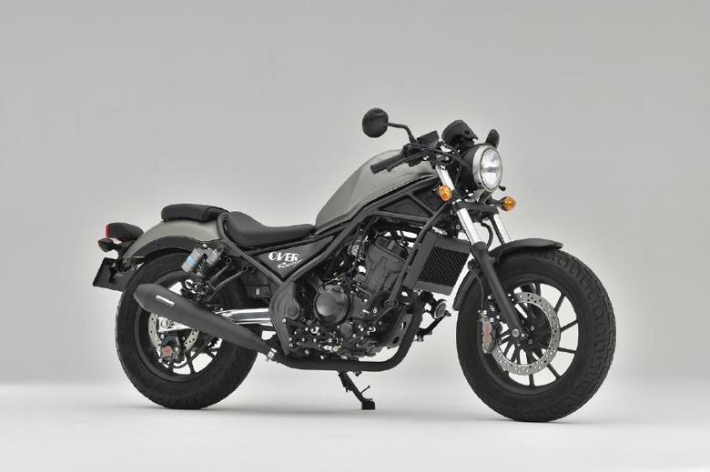 バイクパーツ モーターサイクル オートバイ バイク用品 マフラーOVER RACING オーバーレーシング SSメガホン BLK サイレント スリップオン Rebel250 17-17-13-021 4539770120367取寄品 セール