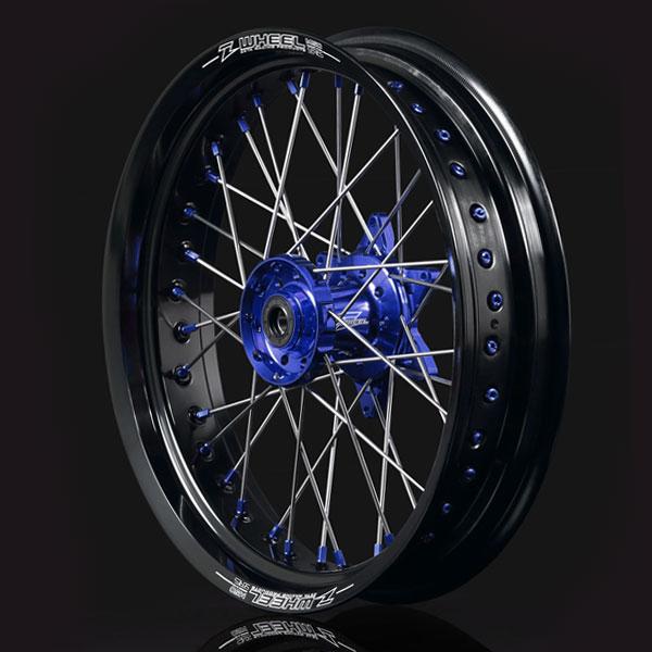 バイクパーツ モーターサイクル オートバイ バイク用品 タイヤ ホイールZ-WHEEL ズィーウィール AR1モタードホイール 海外 F セール BLU 07-17 爆買い送料無料 4547836244384取寄品 BLUW27-17511 17X3.50 WR250R BLK