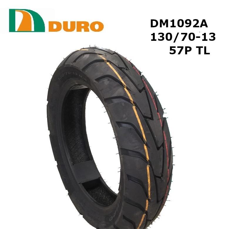 スクーター タイヤ交換 デュロ スクータータイヤ 130 70-13 安心の理由は純正部品採用実績とダンロップとの長期提携工場契約有り 輸入 TL DM1092A DURO デューロ 送料無料 激安 お買い得 キ゛フト 57P