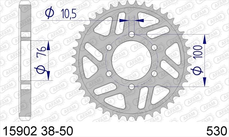 バイク用品 駆動系AFAM アファム Rスプロケット 530-42 GSX400FS IMPULSE 82 GSX-R1100(REAR 6H)530CONVERT 89-15902-42 4548664330386取寄品 セール