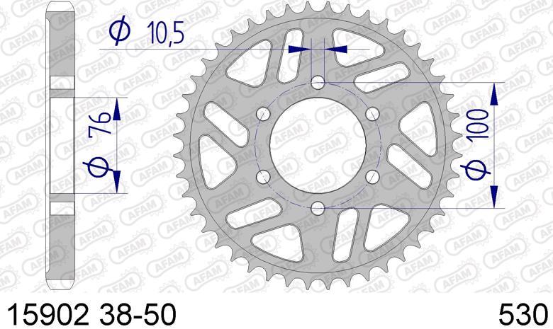 バイク用品 駆動系AFAM アファム Rスプロケット 530-43 GSX400FS IMPULSE 82 GSX-R1100(REAR 6H)530CONVERT 89-15902-43 4548664330393取寄品 セール