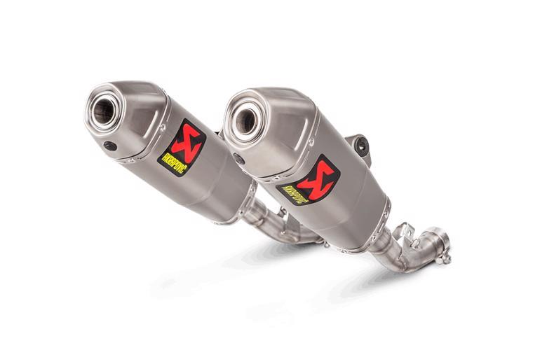 バイク用品 マフラー 4ストスリップオン&ボルトオンマフラーAKRAPOVIC スリップオンライン チタン CRF450R 17-19アクラポヴィッチ S-H4SO8-CIQTA 取寄品 セール