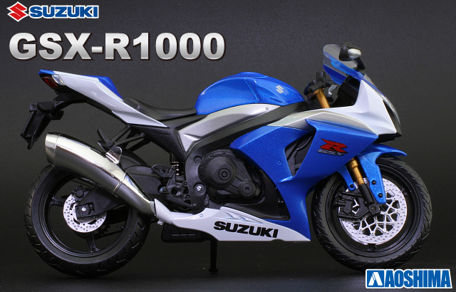1 12 Scale Model Suzuki Gsx R1000 Blue Finished Product