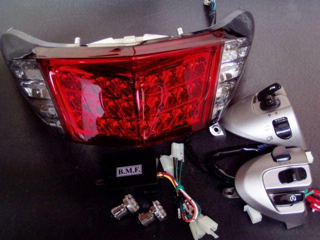 バイク用品 電装系B-MOON FACTORY ビームーンファクトリー LEDテールASSY LEDバルブハザード NEWシグナスX 28S1日本仕様 4548916033744取寄品 セール