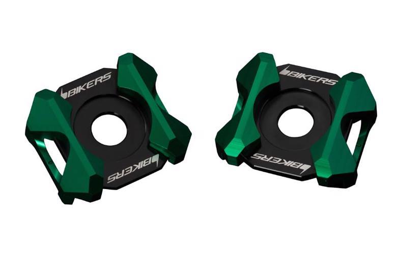 バイク用品 サスペンション ローダウンBIKERS バイカーズ スイングアームADJプレート 2ケ グリーン Ninja400 18-20 Ninja250 R SL 08-20 Z250SL 17K0206-GRN 4548916427611取寄品 セール