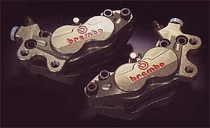 【特別訳あり特価】 【BREMBO】【ブレンボ】【バイク用】キャリパーアンドサポートセット レーシングチタン仕様40ミリ 94- NSR250R【WQ4501+WQ3101】, どんどん 68419bd9