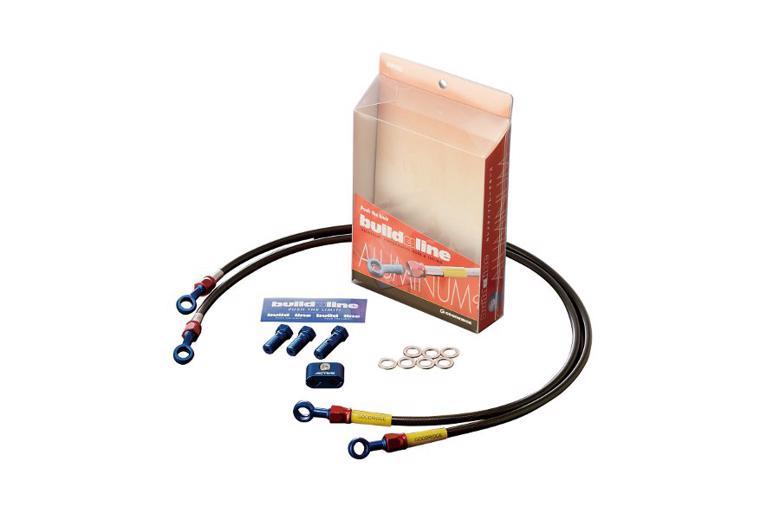 バイク用品 ブレーキホース&クラッチホースビルドアライン BUILDALINE Fホース アルミ スモーク ZX420573110S 4538792254302取寄品 セール