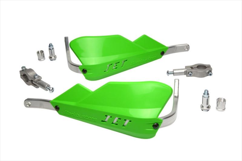 バイク用品 ハンドルBARKBUSTERS バークバスターズ JET ハンドガード 22mm GREENJET-001-00-GR 4573382086420取寄品 セール