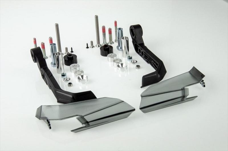 バイク用品 ハンドルBARKBUSTERS バークバスターズ AERO-GP レバープロテクター 左右セット Single Point MountAGP-001-00-BK 4580041231725取寄品 セール