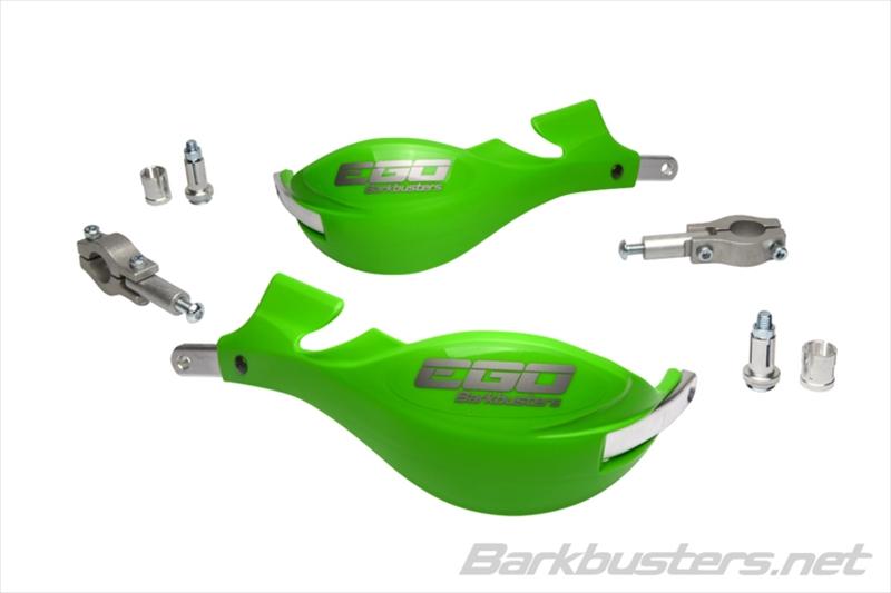 バイク用品 ハンドルBARKBUSTERS バークバスターズ EGO ミニハンドガード ストレート22mm GREENEGO-004-00-GR 4580041231954取寄品 セール