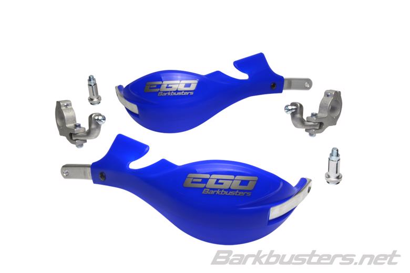 バイク用品 ハンドルBARKBUSTERS バークバスターズ EGO ハンドガード Two Point Mount (Tapered) BLUEEGO-005-02-BU 4580041232012取寄品 セール