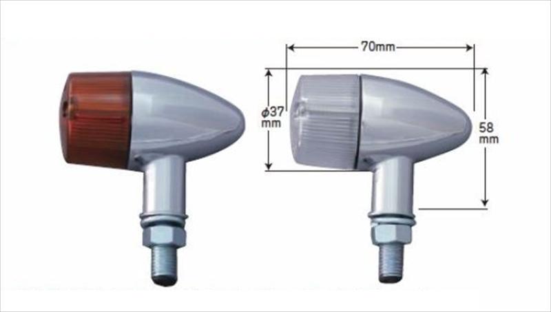 バイク用品 電装系CF-POSH シーエフポッシュ ティアードロップウインカーキット CL 12Vモンキー271581 4947934056948取寄品 セール