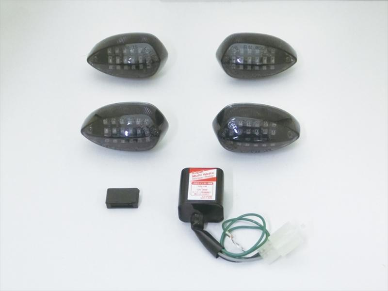 バイク用品 電装系CF-POSH シーエフポッシュ LEDカスタマイジングキットシーケンシャル スモークレンズ MT-09 07(ABS)・XSR700 900・YZF-R25 R3(ABS) 19-627982 4947934075093取寄品 セール