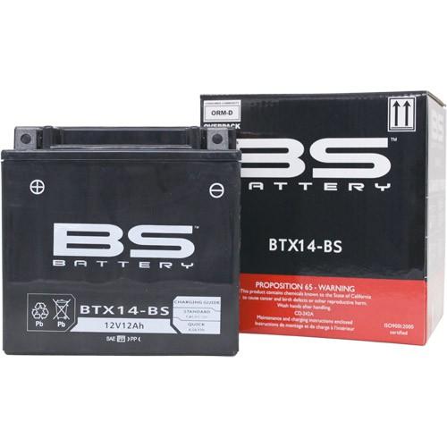 バイクパーツ バイクバッテリー【1個売り】BTX14-BS (YTX14-BS 互換)BSバッテリー BTX14-BS 取寄品