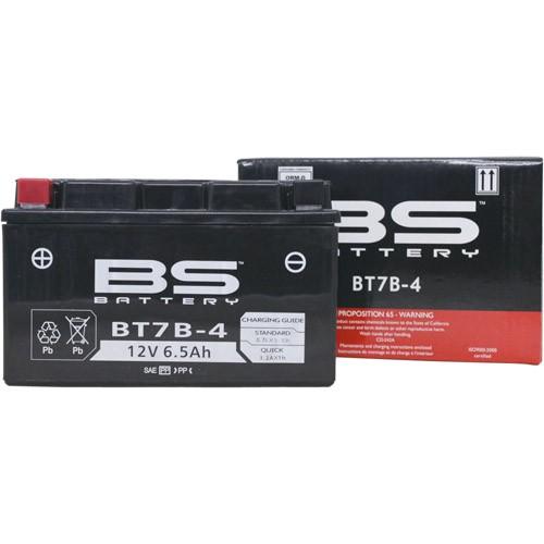 バイクパーツ バイクバッテリー【1個売り】BT7B-4 (YT7B-BS、GT7B-4 互換)BSバッテリー BT7B-4 取寄品