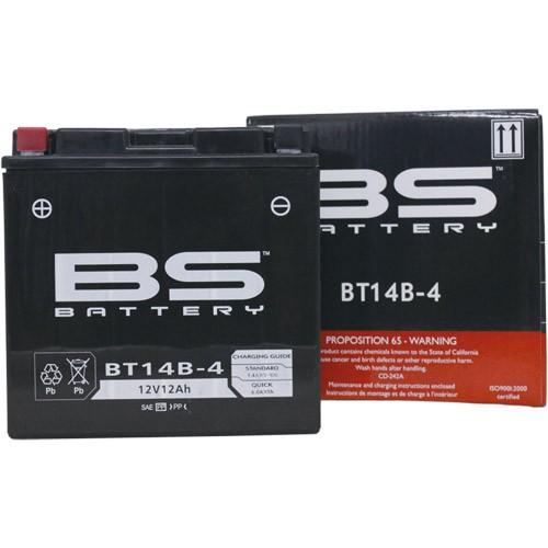 スーパーセール バイクパーツ バイクバッテリー【1個売り】BT14B-4 (GT14B-4 互換)BSバッテリー BT14B-4 取寄品