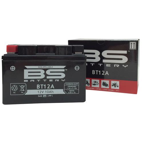 バイクパーツ バイクバッテリーBT12A (YT12A-BS互換) 液入充電済みタイプBSバッテリー BT12A 取寄品