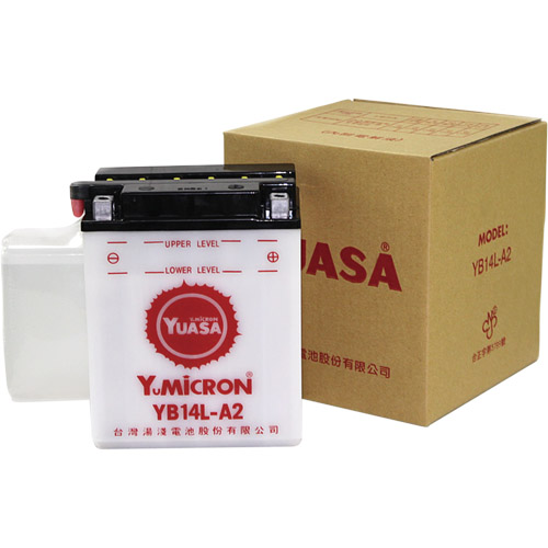 バイクパーツ バイクバッテリーTYB14L-A2 (YB14L-A2互換)台湾ユアサ YB14L-A2 取寄品