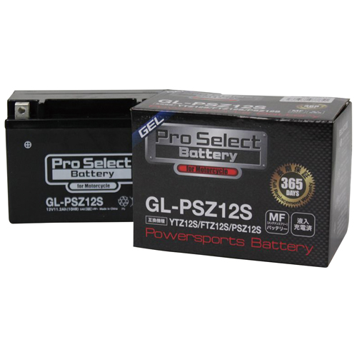スーパーセール バイクパーツ バイクバッテリーGL-PSZ12S (YTZ12S 互換)(ジェルタイプ 液入り充電済み)Pro Select Battery (プロセレクトバッテリー) PSB114 取寄品