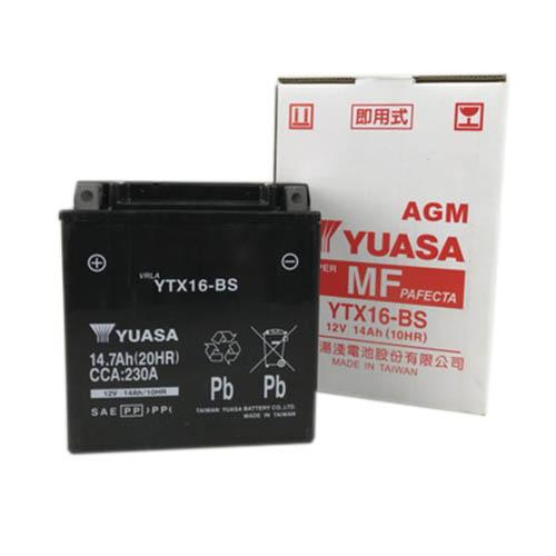 バイクパーツ バイクバッテリーTYTX16-BS(YTX16-BS 互換)台湾ユアサ YTX16-BS 取寄品