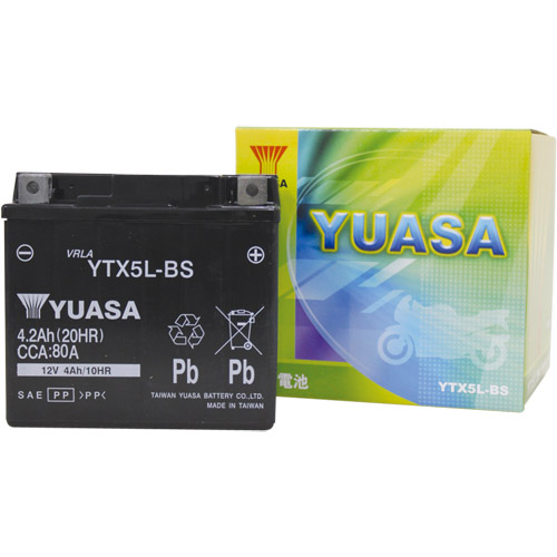 バイクパーツ バイクバッテリーTYTX5L-BS (YTX5L-BS 互換)台湾ユアサ YTX5L-BS 取寄品