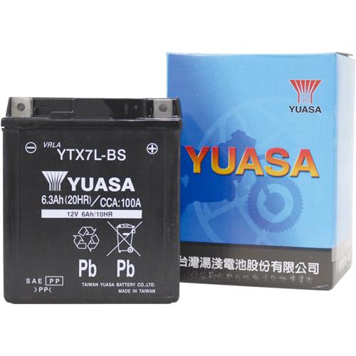 バイクパーツ バイクバッテリーTYTX7L-BS (YTX7L-BS 互換)台湾ユアサ YTX7L-BS 取寄品