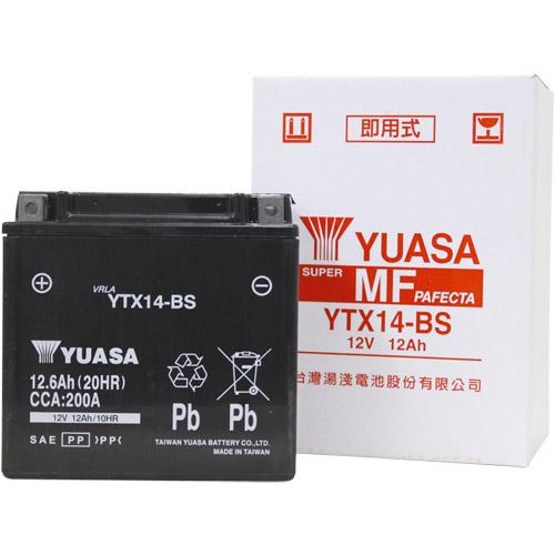 バイクパーツ バイクバッテリーTYTX14-BS (YTX14-BS 互換)台湾ユアサ YTX14-BS 取寄品